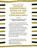 Google Expeditions: Introduction to the Holocaust (Vocabulary)