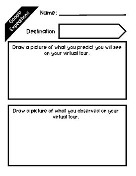 Google Expeditions @ Your Library - End of Year Print and Go Graphic Organizers