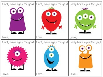 I Only Have Eyes for You Printable Valentine Cards