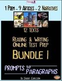 SBAC Test Prep BUNDLE  l ~ with 12 TEXTS ~ ONLINE Google Forms
