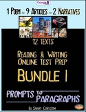 SBAC Test Prep BUNDLE  l ~ with 12 ONLINE TEXTS ~ Google Forms