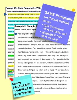 SBAC Online READING & WRITING Test Prep ~ 2 Texts ~ About STONEFISH & TEAMWORK
