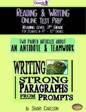 """SBAC Test Prep ~ 2 Texts about """"STONEFISH"""" & """"TEAMWORK"""" ~ ONLINE Google Forms"""