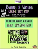 """SBAC Test Prep ~ 2 Texts about """"DRAGONFISH"""" & """"ADAPTING"""" ~ ONLINE Google Forms"""