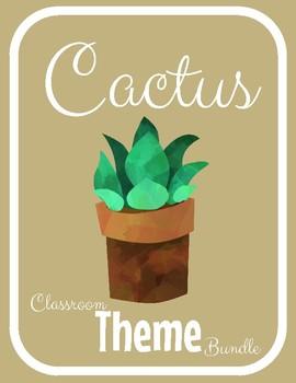 Google File Cactus Classroom Decor