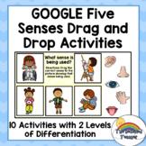 Google Five Senses Drag and Drop Activities | Digital 5 Se