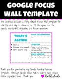 Google Focus Wall Template