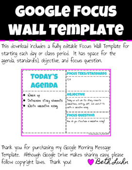 Google Focus Wall Template