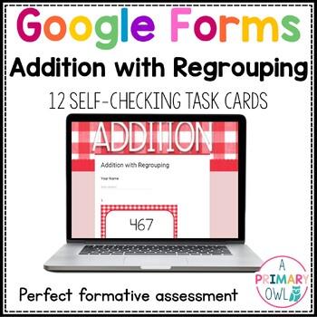 Google Form Addition and Subtraction: DIGITAL Task Cards