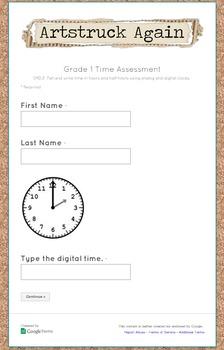 Google Form Common Core Measurement & Data Math Assessment