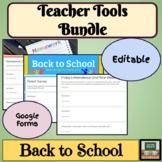 Google Form - Teacher Tools - Beginning of Year - Distance
