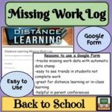 Google Form - Distance Learning - Track Missing Work