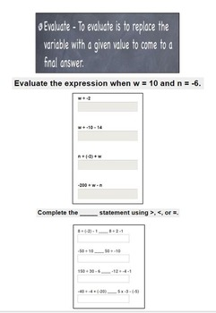 Google Form - Dividing Integers