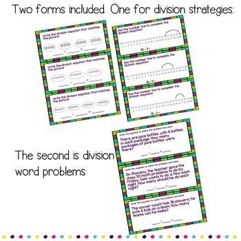 Google Form Division Strategies: DIGITAL Task Cards