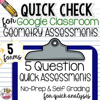 Google Form Geometry Quick Assessments