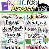 Google Form Headers Bundle - Distance Learning