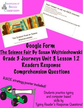 Google Form: The Science Fair by Susan Wojciechowski Readers Response Questions