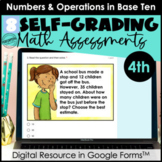 Google Form Math Assessments | Add, Subtract, Multiply, Di