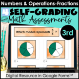Google Form Math Assessments | Comparing, Equivalent Fract