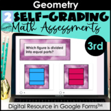 Google Form Math Assessments | Geometry, Shapes | 3rd Grade