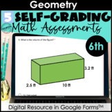 Google Form Math Assessments | Geometry, Surface Area, Vol