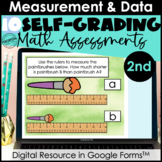 Google Form Math Assessments | Measurement, Data, Time (MD