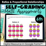 Google Form Math Assessments | Ratios & Proportional Relat