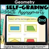 Google Form Math Assessments | Shapes (Geometry) | 2nd Grade