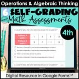 Google Form Math Assessments | Word Problems, Patterns (OA