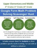 Google Form Math Problem Solving Scavenger Hunt