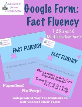 Google Form: Multiplication Facts