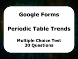 Google Form: Periodic Table Trends Multiple Choice Test