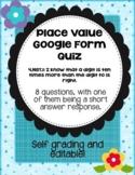 Google Form Quiz: Place Value 4.NBT.1 Self Grading and Editable