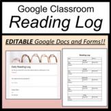 Google Form Reading Log [Google Classroom Reading Log] [Reading Logs]