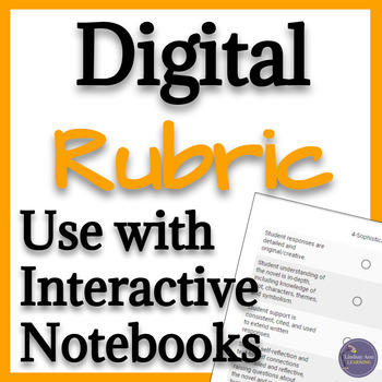 Digital Rubric for Any Reading Notebook for Google Forms