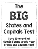Google Form: States and Capitals Test