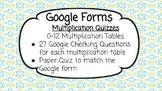 Google Form Times Table Quizzes