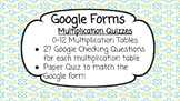 Google Form Times Table Quizzes
