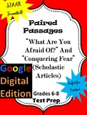 "Google Form for Paired Passages ""What Are You Afraid Of?"" and ""Conquering Fear"""