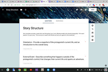 Google Form for Story Structure