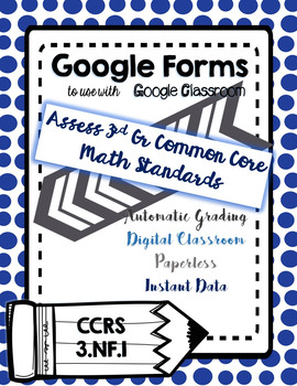 Google Form to Assess 3.NF.1 - Develop and Understanding of Fractions as Numbers