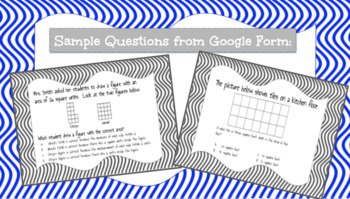 Google Form to Assess Area (Common Core 3.MD.5 & 3.MD.6)
