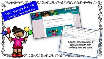 Google Form to Assess Common Core Math Standard 3.G.1