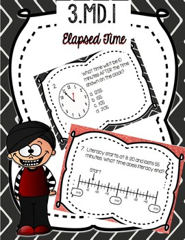 Google Form to assess 3.MD.1 - Elapsed Time