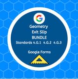 Google Forms 4th Grade Geometry Exit Slip Ticket Bundle