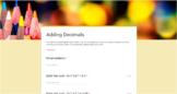 Google Forms - Adding Decimals