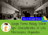 Characteristics of Life, Microscopes, Cells Google Form Bell Ringer/Exit Tickets