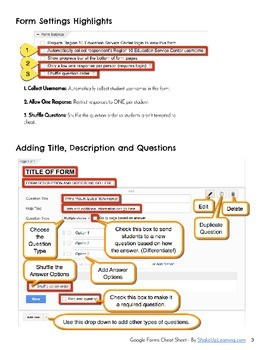 Google Forms Cheat Sheet for Teachers and Students