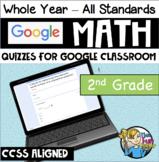2nd Grade Math CCSS - Google Forms / Classroom - QUIZZES FOR EACH STANDARD!