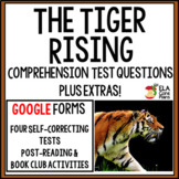 Google Forms Comprehension Questions for The Tiger Rising